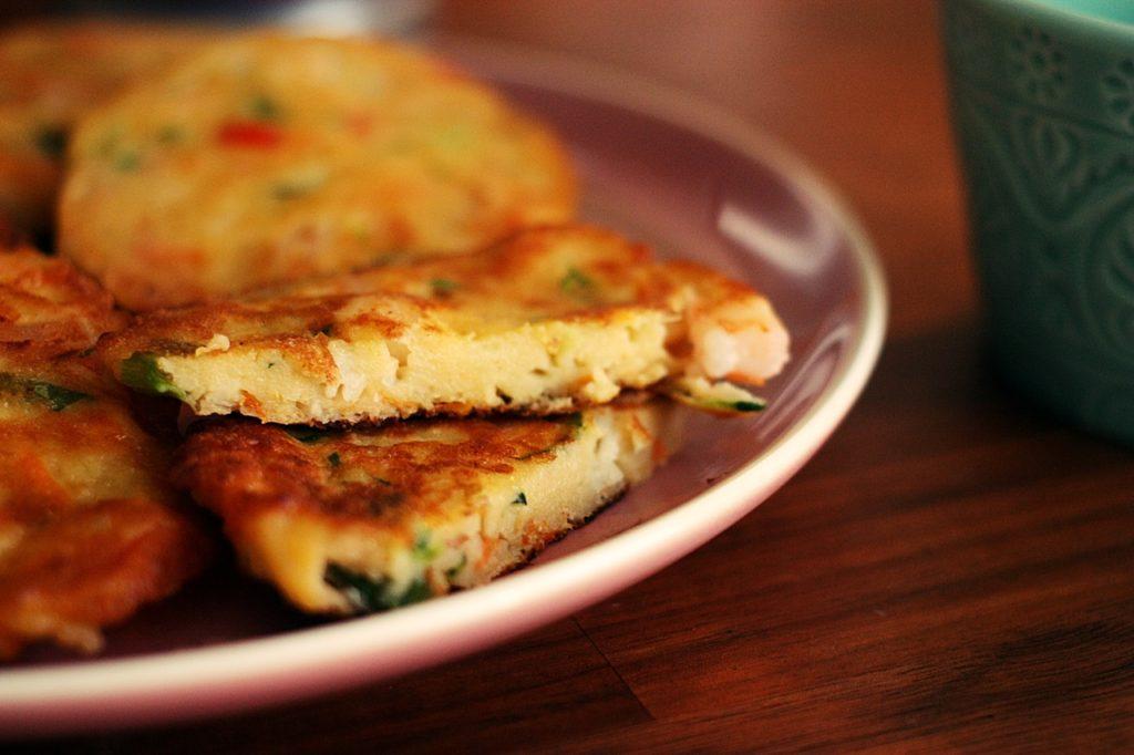 ricetta coreana dei pancake ai frutti di mare con verdure
